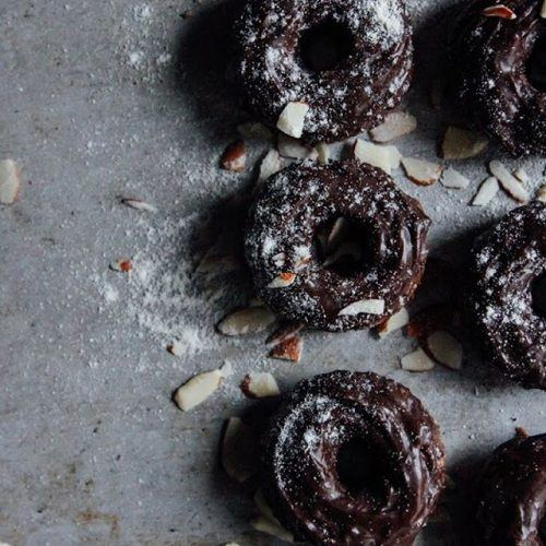 Chocolate Coconut Donuts