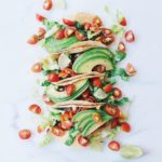 Soft Tacos w/ Black Beans, Tomatoes & Avocados