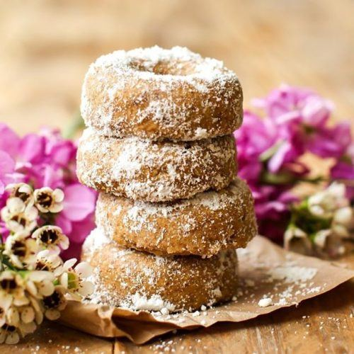 Vegan Mini Powdered Donuts