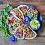 Vegan Rainbow Tacos
