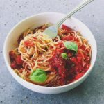 Angel Hair w/ Homemade Tomato Basil Sauce