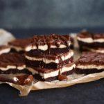 Raw Vegan Triple Choc Vanilla Cheesecakes