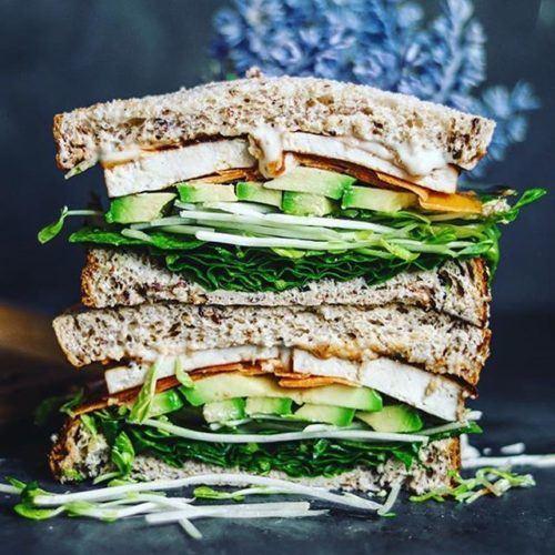 Crispy BBQ Tofu Sandwich