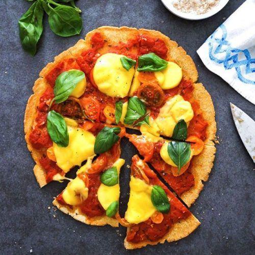 Heirloom Tomato Chickpea Base Pizza