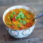 Yellow Lentil & Veggie Soup/Stew