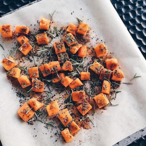 Sweet Moroccan and Black Sesame Seed Butternut Squash Bites