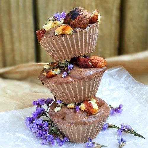 Chocolate & Hazelnut Mini Vegan Cheesecakes