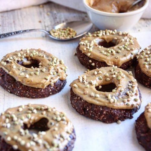 Raw Vegan Chocolate and Caramel Donuts