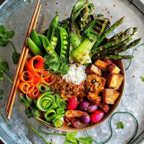 Rainbow Satay Bowl