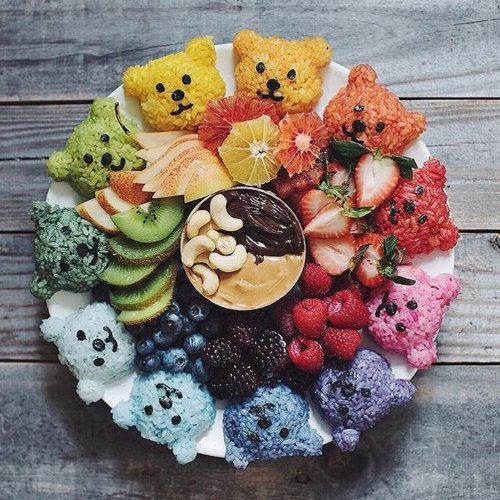 The Cutest Fruit & Rice Platter