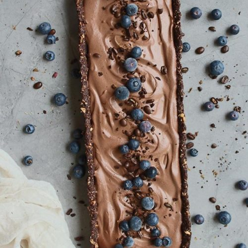 Blueberry Chocolate Mousse Mocca Tart