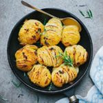 Garlic and Herb Hasselback Potatoes