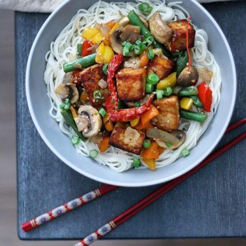 Sweet and Spicy Tofu Stir Fry