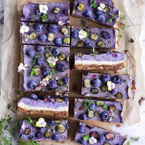 Blueberry Raw Cake