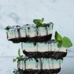 Oreo Style Mint Cheesecake Slice