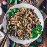 Garlic Tagliatelle with Mushrooms