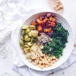 Roasted Veggie Kale Bowls