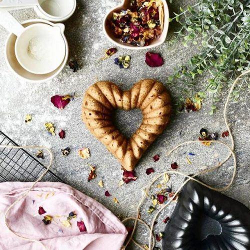 Vegan Heart Shaped Cake