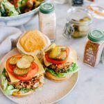 Smokey Vegan Mushroom Cheeseburger
