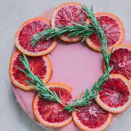 Vegan Blood Orange Olive Oil Cake