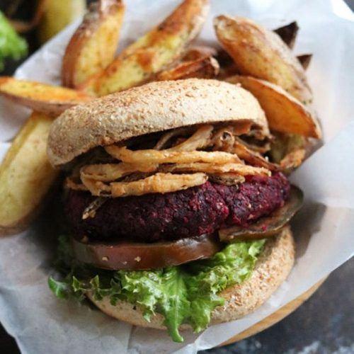 Bulgur and Beet Burger