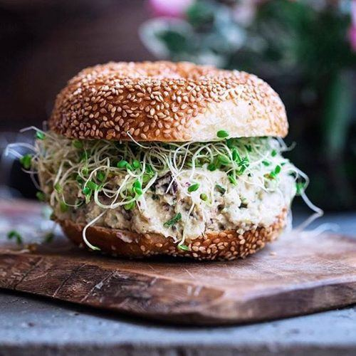 Chickpea Salad Sandwich with Hearts of Palm