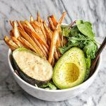 Crispy Fries with Salad