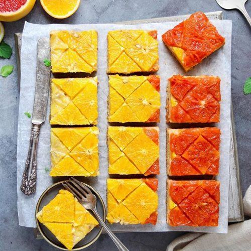 Citrus vanilla upside-down cake