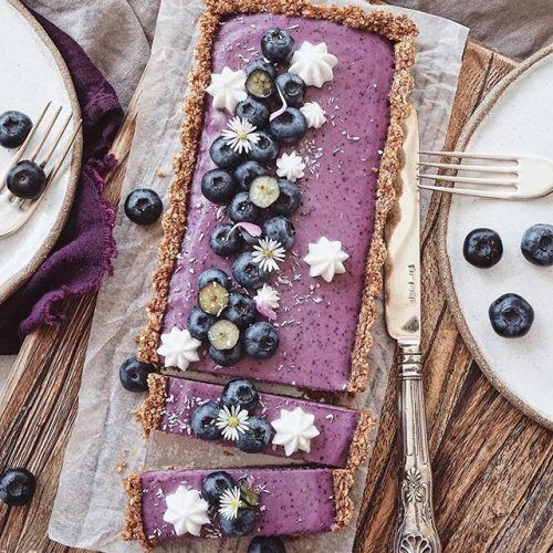 Vegan Blueberry Cheesecake