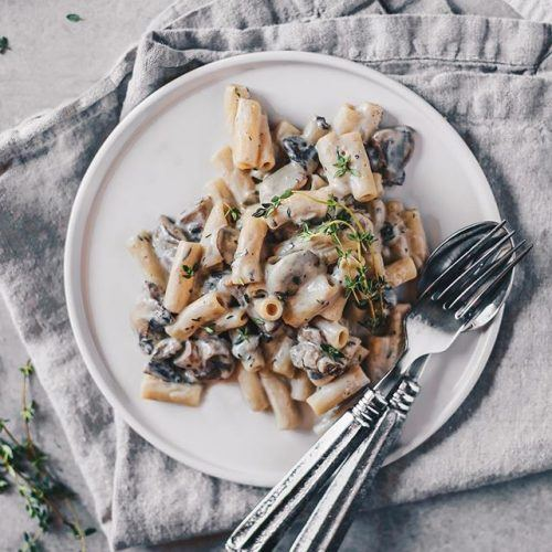 Easy Vegan Mushroom Pasta with Fresh Thyme