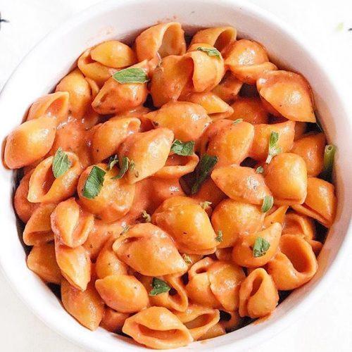 Tomato coconut pasta sauce